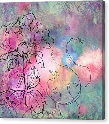 Sketchflowers - Dahlia Canvas Print