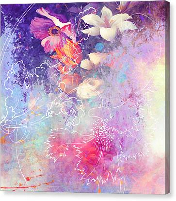Sketchflowers - Lily Canvas Print by Aimee Stewart