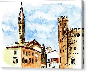 Sketching Italy Florence Towers Canvas Print