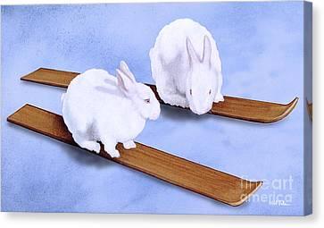 Ski Bunnies... Canvas Print