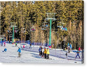 Ski Day Canvas Print by Tammy Espino