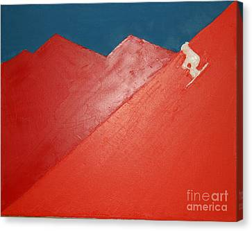 Ski Deer Valley Park City Canvas Print by Richard W Linford