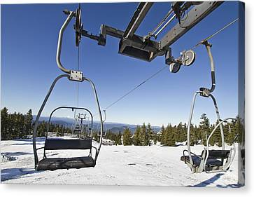 Ski Lifts At Mount Hood In Oreon Canvas Print