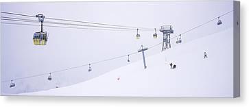 Vorarlberg Canvas Print - Ski Lifts In A Ski Resort, Arlberg, St by Panoramic Images