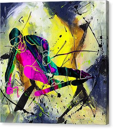 Alpine Canvas Print - Ski by Marvin Blaine