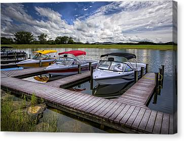 Ski Nautique Canvas Print by Debra and Dave Vanderlaan