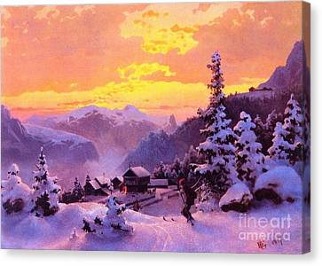 Ski Canvas Print by Pg Reproductions