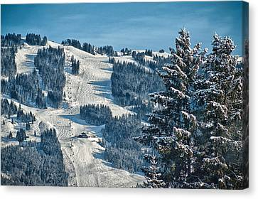 Ski Run Canvas Print