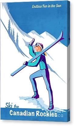 Ski The Rockies Canvas Print by Sassan Filsoof