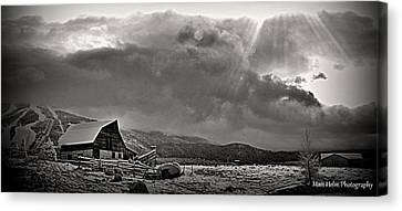 Ski Town Skies Canvas Print