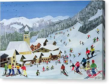 Ski Whizzz Canvas Print by Judy Joel