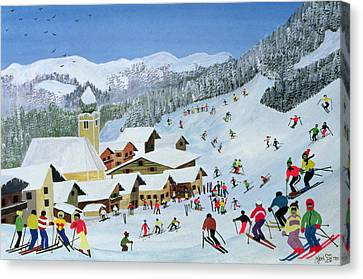Signature Canvas Print - Ski Whizzz by Judy Joel