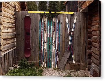 Ski'd Up Canvas Print