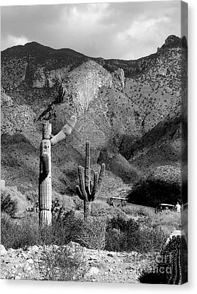 Skies Darkening Over Tucson Foothills Canvas Print by Rincon Road Photography By Ben Petersen