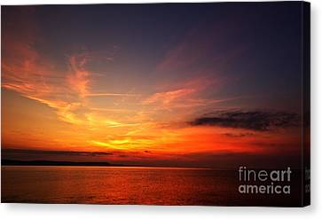 Skies On Fire Canvas Print by Stephen Melia