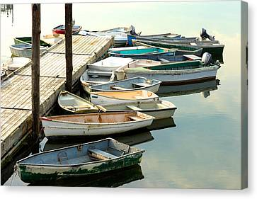 Skiffs  Cape Porpoise Maine Canvas Print by Gail Maloney