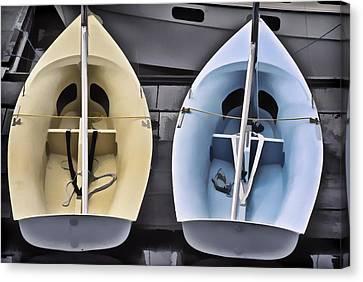 Skiffs Canvas Print by Richard Farrington