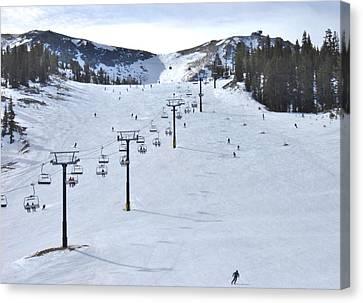 Skiing Mammoth Canvas Print