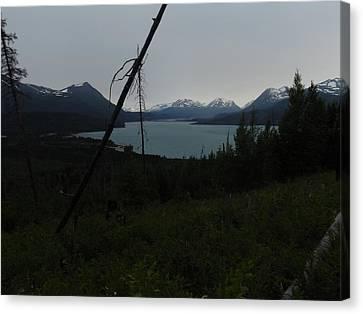 Skilak Lake In Kenai Alaska Canvas Print by Nikki Jauron