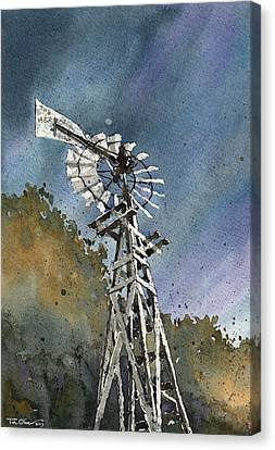 Skillet Ranch Mill Canvas Print by Tim Oliver