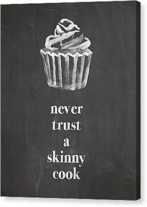 Food And Beverage Canvas Print - Skinny Cook by Nancy Ingersoll