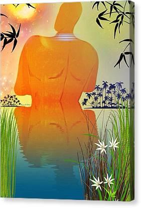 Skinnydippin' Canvas Print by Romaine Head