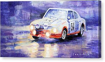 Skoda 130 Rs Rally Monte Carlo 1977 Canvas Print by Yuriy Shevchuk