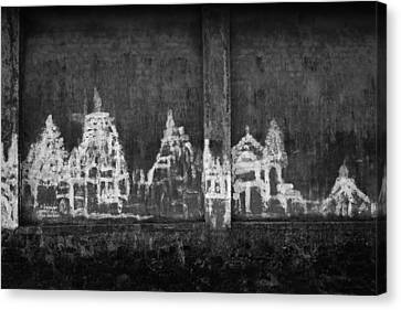 Skc 0003 Temple Complex Canvas Print by Sunil Kapadia
