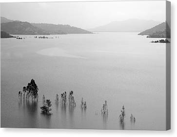 Skc 0055 A Hazy Riverscape Canvas Print by Sunil Kapadia