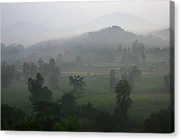 Skc 0079 A Winter Morning Canvas Print by Sunil Kapadia