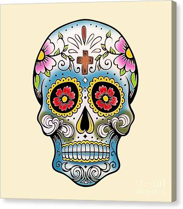 Skull 10 Canvas Print by Mark Ashkenazi