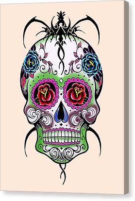 Caricature Canvas Print - Skull 11 by Mark Ashkenazi