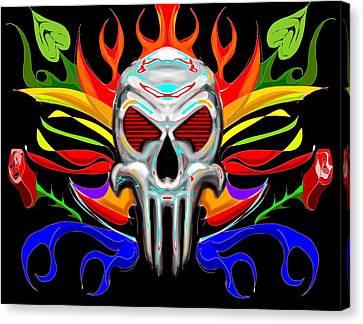 Skull Abstract Canvas Print by Arpit Handa