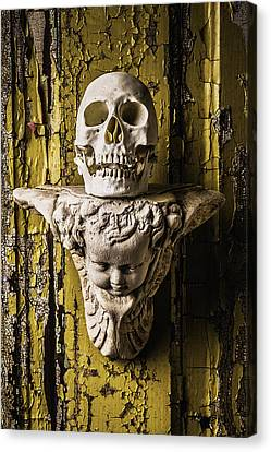 Skull And Angel Canvas Print by Garry Gay