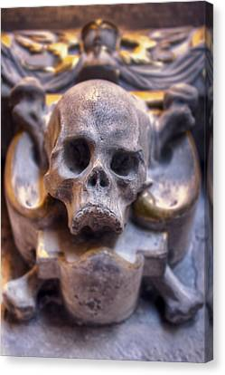 Skull And Bones Canvas Print by EXparte SE