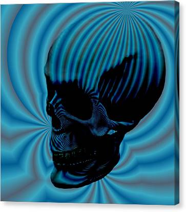 Skull Aura Blue Canvas Print by Jason Saunders