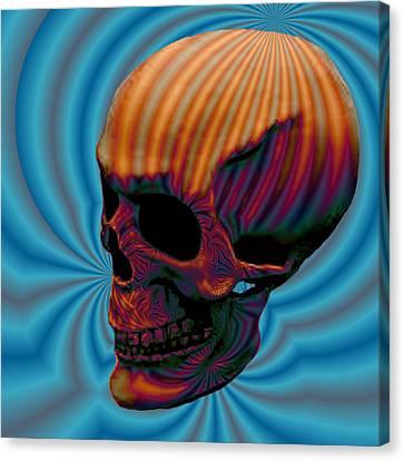 Solemn Relics Canvas Print - Skull Aura Orange by Jason Saunders
