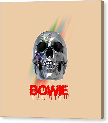 Skull Bowie  Canvas Print