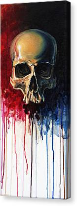 Skull Canvas Print by David Kraig