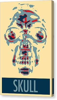 Skull In Negative Hope Canvas Print