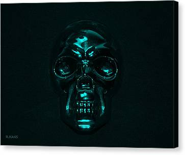 Skull In Turquois Canvas Print
