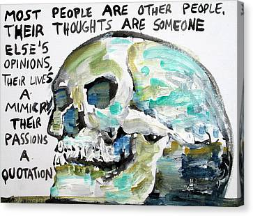 Skull Quoting Oscar Wilde.10 Canvas Print by Fabrizio Cassetta