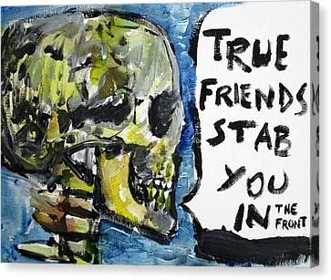 Skull Quoting Oscar Wilde.2 Canvas Print by Fabrizio Cassetta