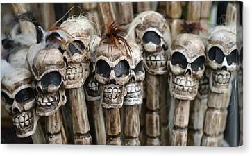 Skull Sticks Canvas Print