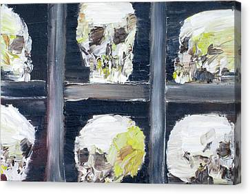 Hidden Face Canvas Print - Skulls In The Crypt by Fabrizio Cassetta