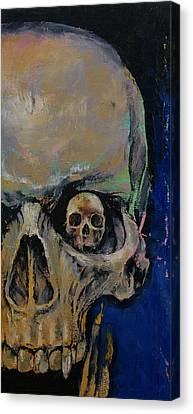 Vampire Skull Canvas Print by Michael Creese