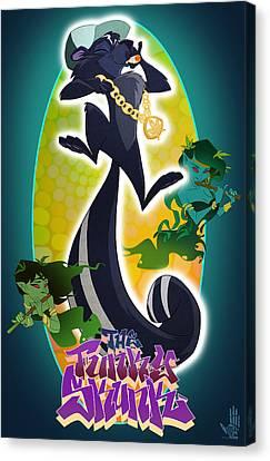 Skunk Funk Canvas Print by Nelson Dedos Garcia