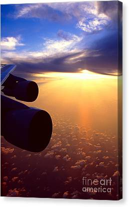 Canvas Print featuring the photograph Sky Above 30000 Feet  by Aiolos Greek Collections