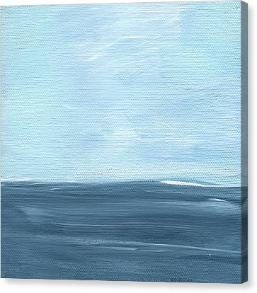 Sky And Sea Canvas Print by Linda Woods