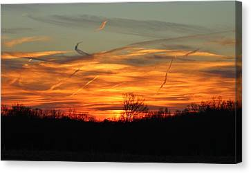 Sky At Sunset Canvas Print by Cynthia Guinn